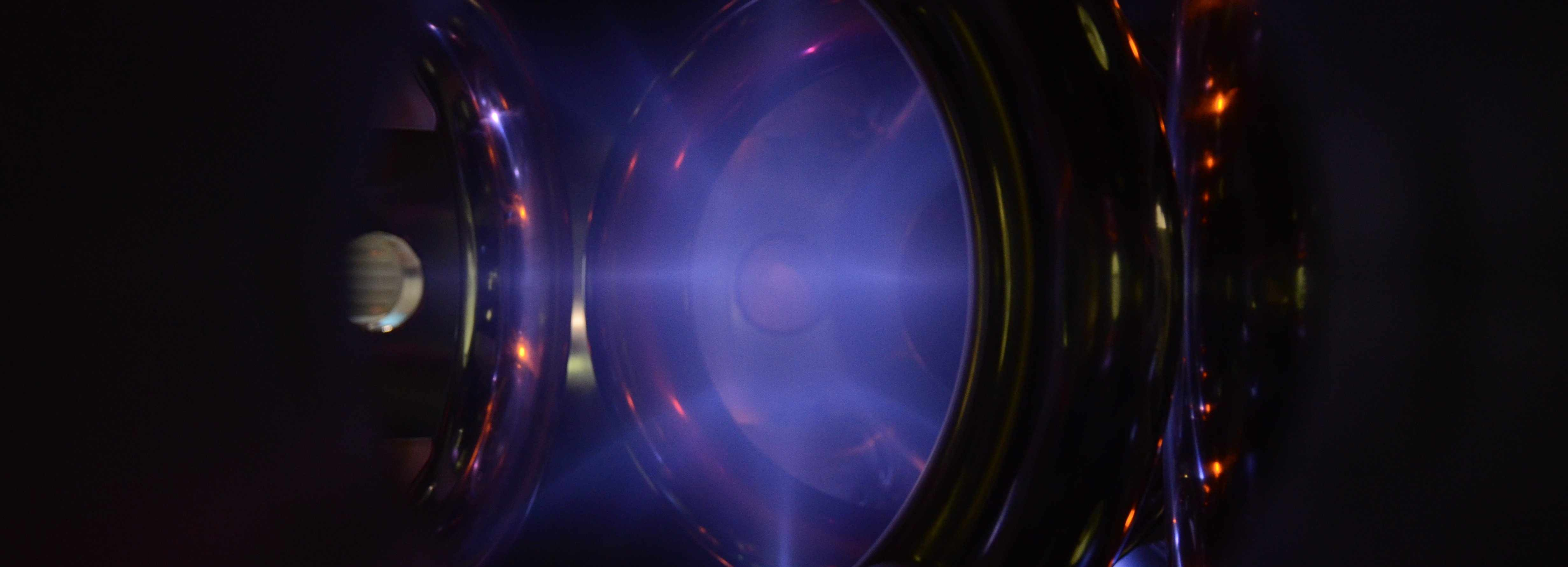 A plasma in the WB-8 device